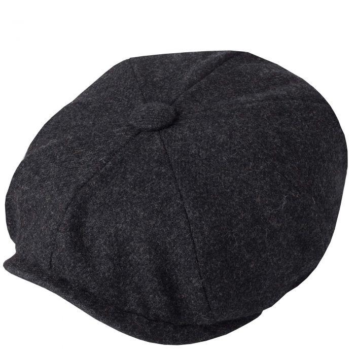 Charcoal Grey Tweed Redford Curved Cap