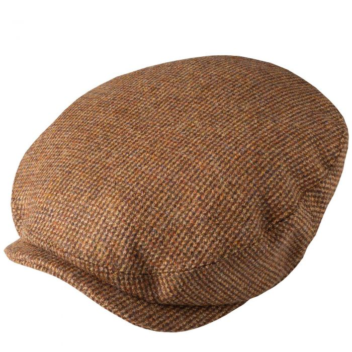 Brown Hunting Tweed Baggy Bond Cap