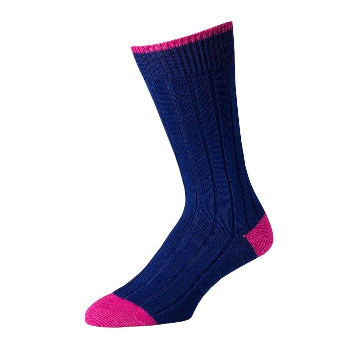 Purple Pink  Cotton Heel & Toe Socks