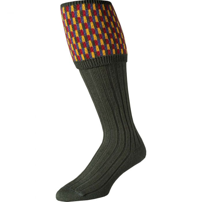 Loden Patterned Top Shooting Stocking