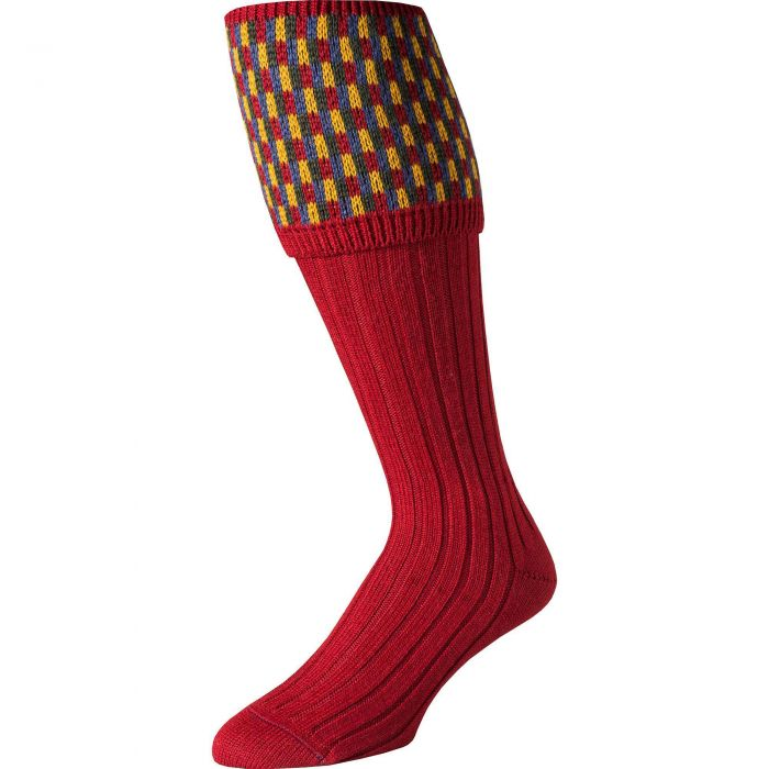 Brick Patterned Top Shooting Stocking