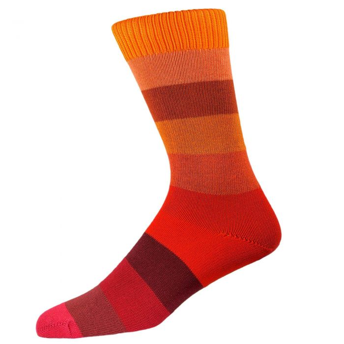 Orange Striped Elevenses Sock