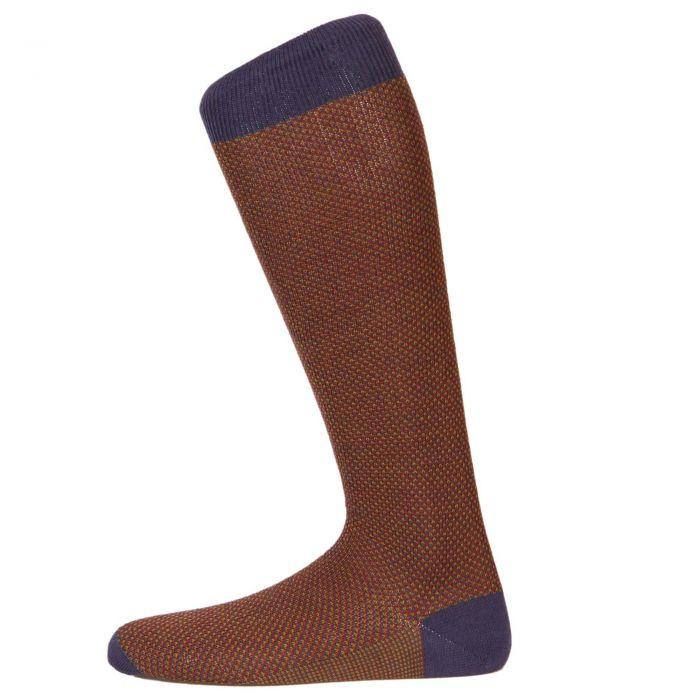Berry Birdseye Long Sock