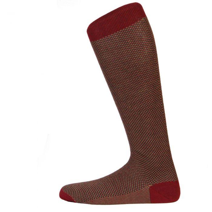 Wine Birdseye Long Sock