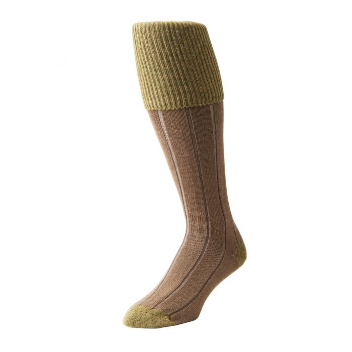 Beige Green Shooting Stocking