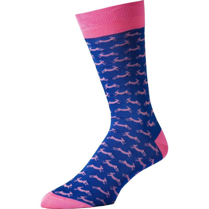 Royal Blue Hare Heel and Toe Sock