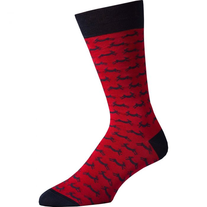 Red Hare Heel and Toe Sock