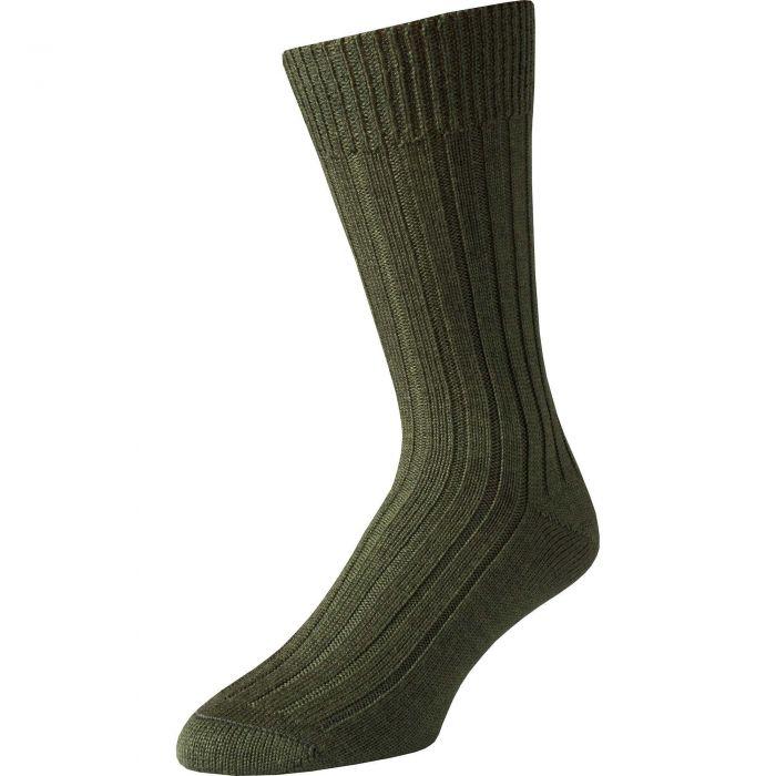 Green Merino Mid Calf Country Sock