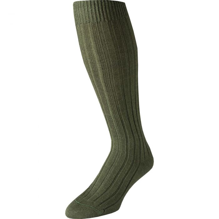 Green Merino Long Country Sock