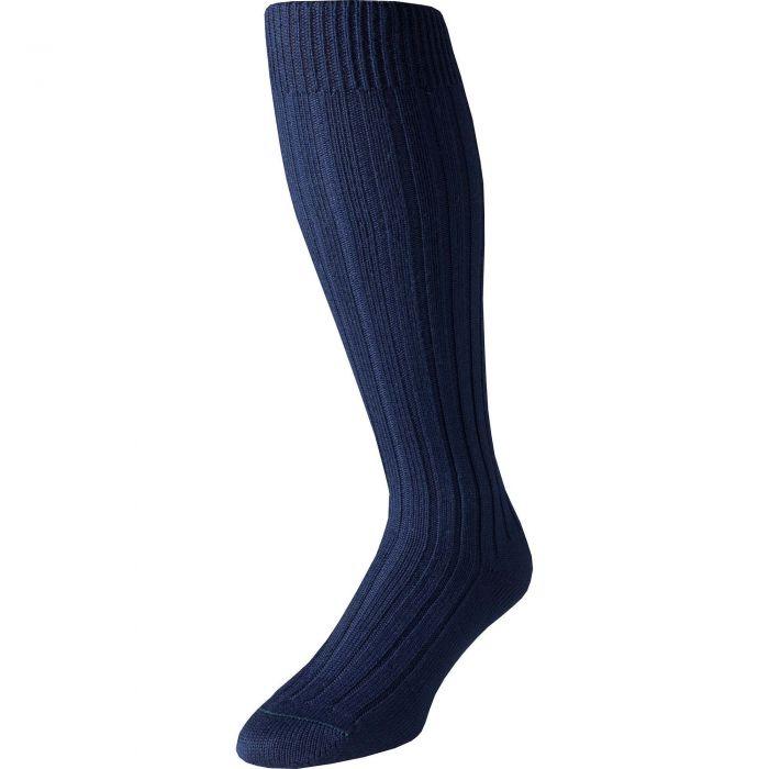 Navy Merino Long Country Sock