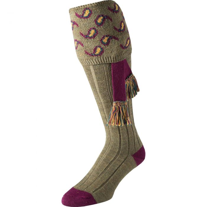 Sage Green Norfolk Paisley Shooting Stocking