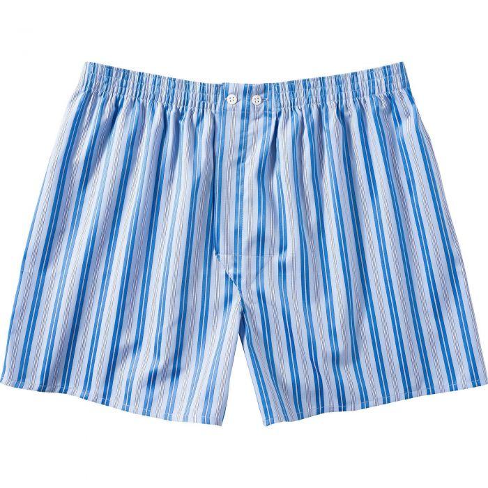 Blue Thin Stripe Satin Boxer Shorts