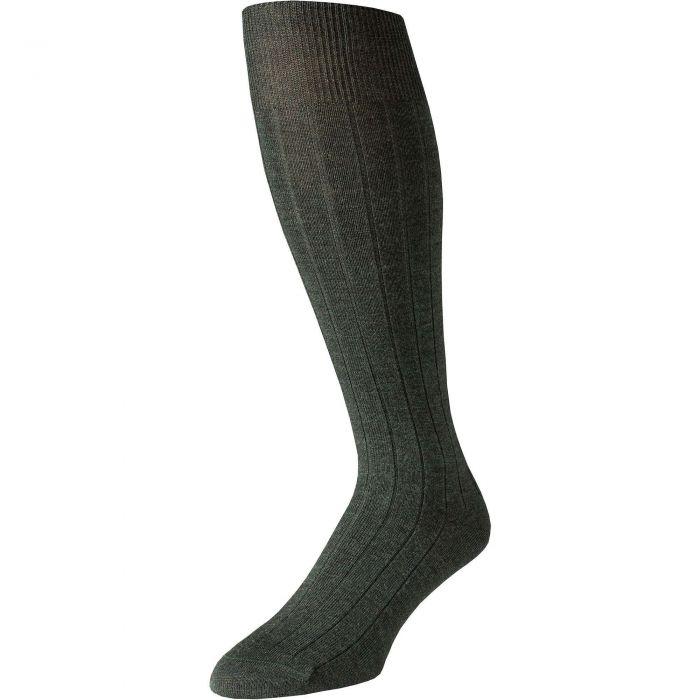 Olive Merino Long Pennine Sock