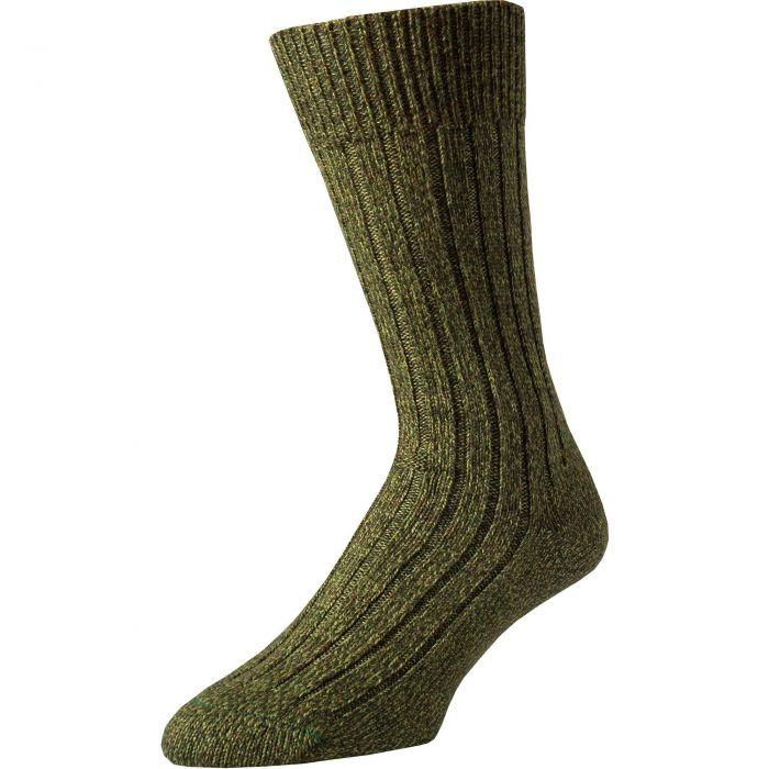 Green Marl Country Sock