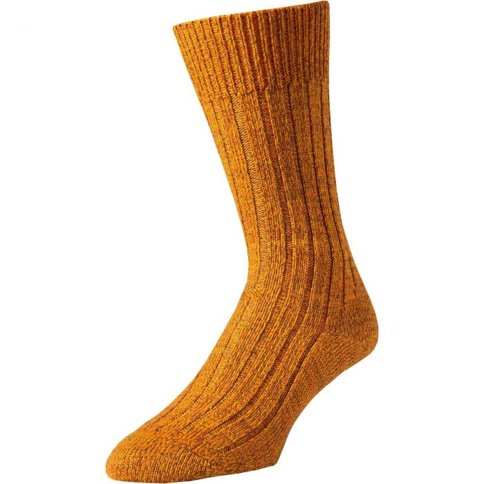 Gold Marl Country Sock