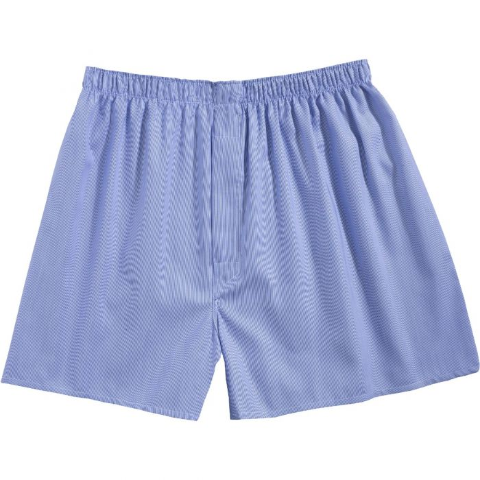 Dark Blue Twill Patterned Cotton Boxer Shorts