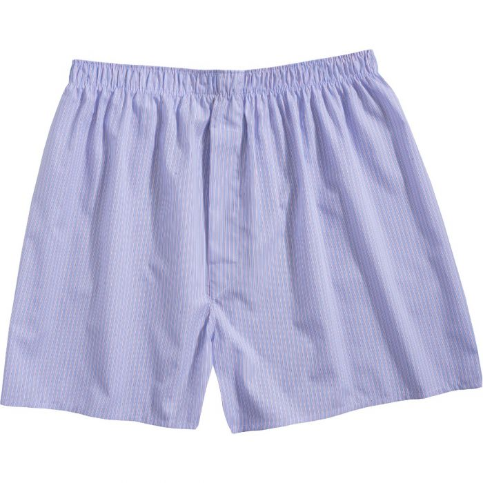 Blue and Pink Stripe Cotton Boxer Shorts