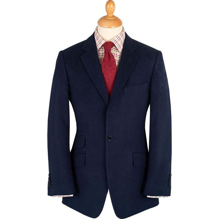 Navy Earl Moleskin Jacket