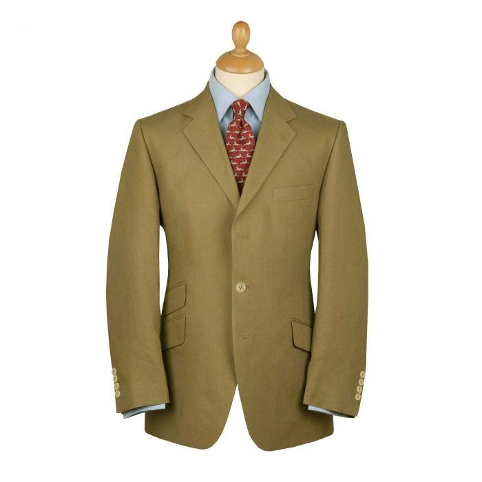 Olive Green Linen Jacket