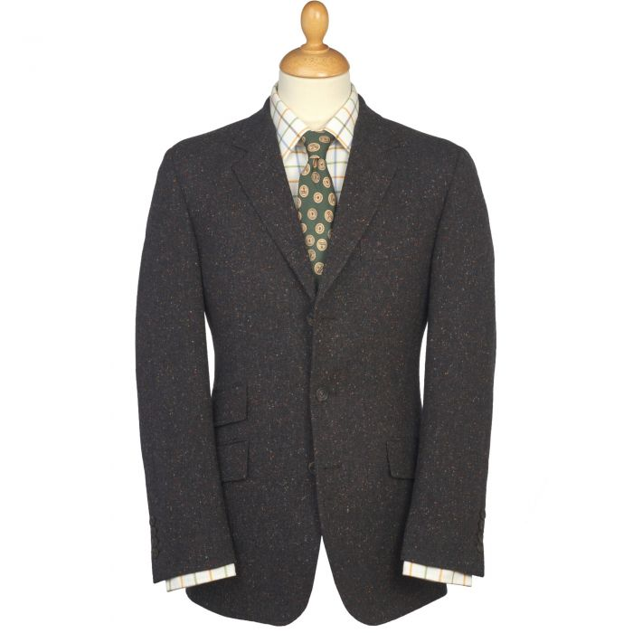 Grey Brown Donegal Tweed Jacket