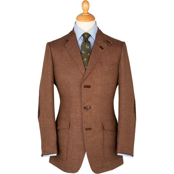 Brown Havana Livingstone Linen Jacket