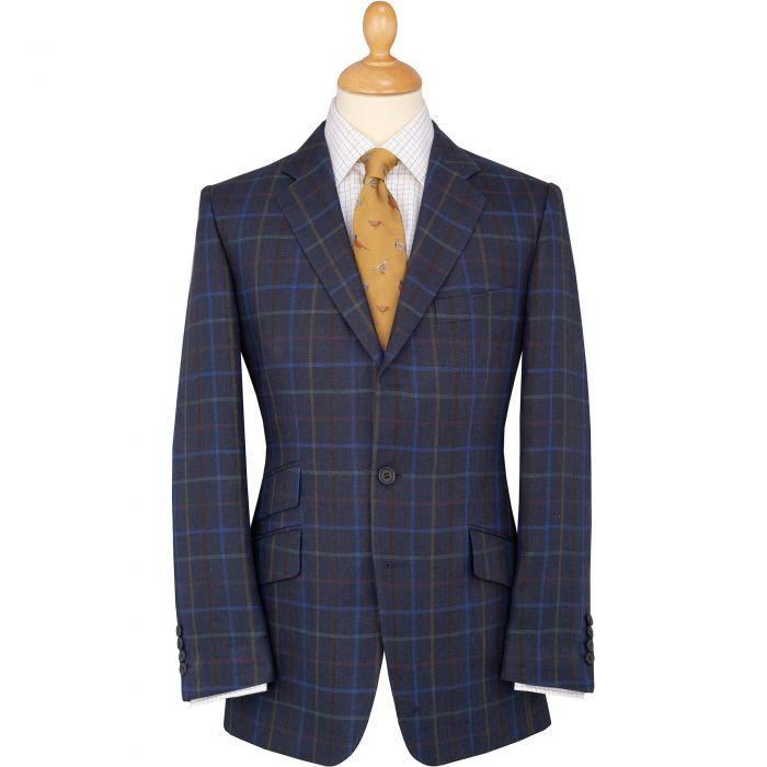 Blue Pelham Check Linen Jacket