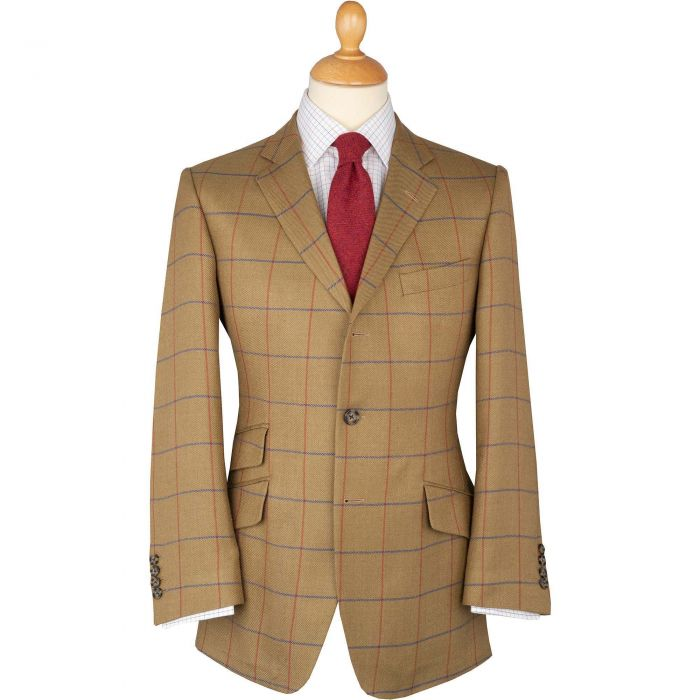 Sage Green Henry Half Lined Wool, Linen and Silk Tweed Jacket