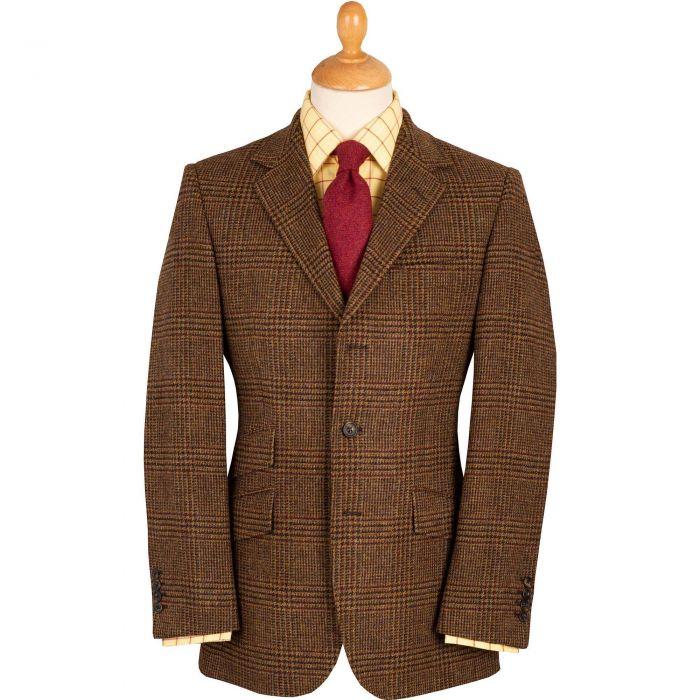 Brown Rowland Check Tweed Jacket