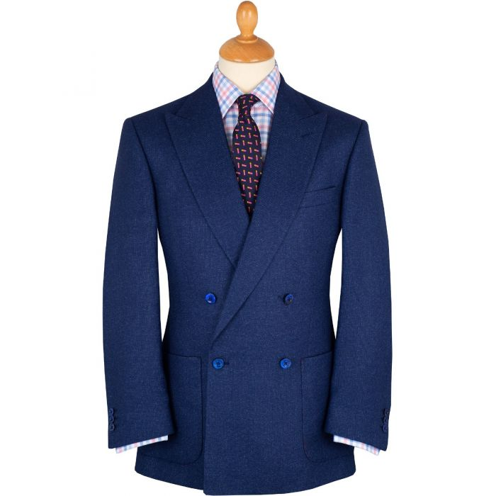 Blue Double Breasted Bucklers Blazer
