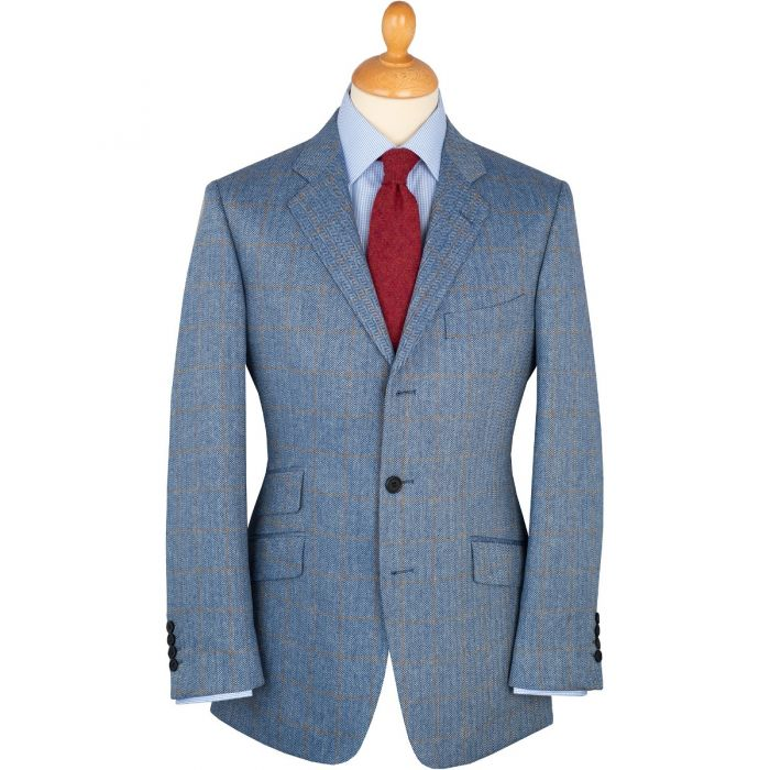 Blue Sudbury Silk Jacket