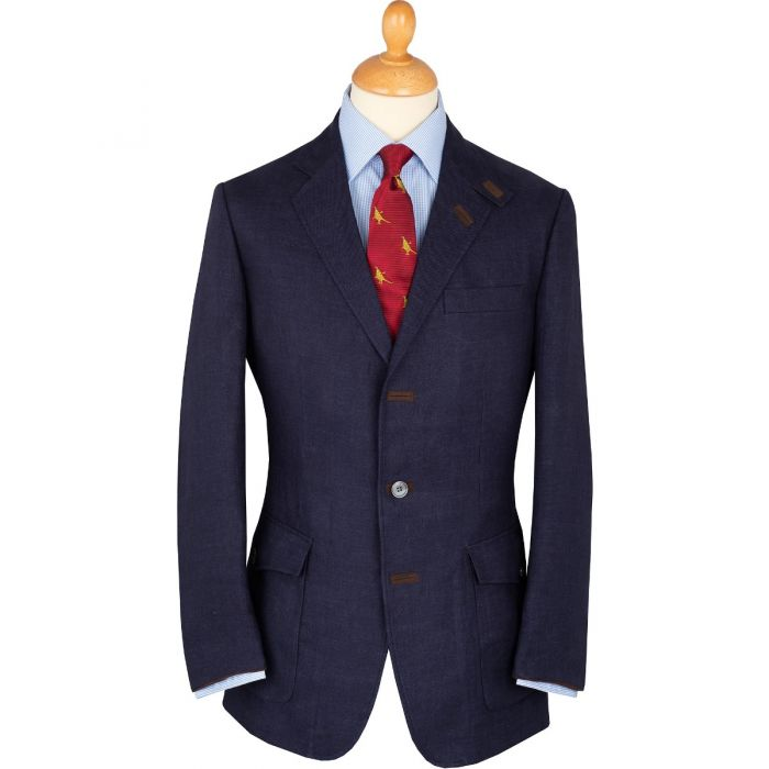 Rich Navy Livingstone Linen Jacket