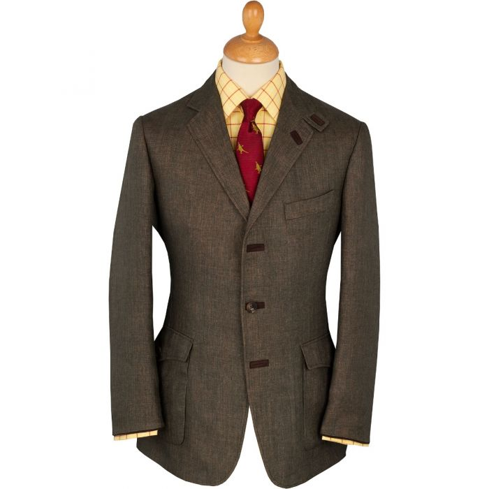 Green Kimberly Linen & Silk Safari Jacket