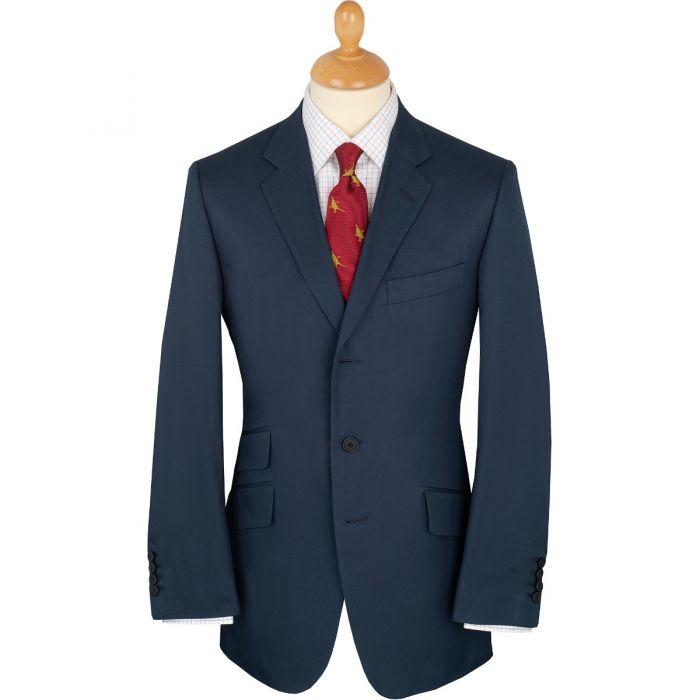 Navy Cotton Gabardine Drill Suit Jacket