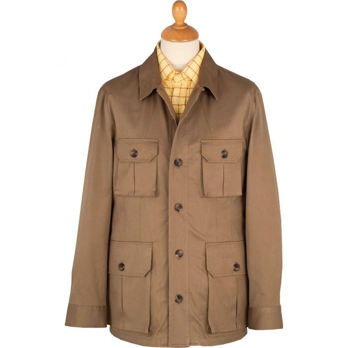 Khaki Kalahari Safari Cotton Jacket