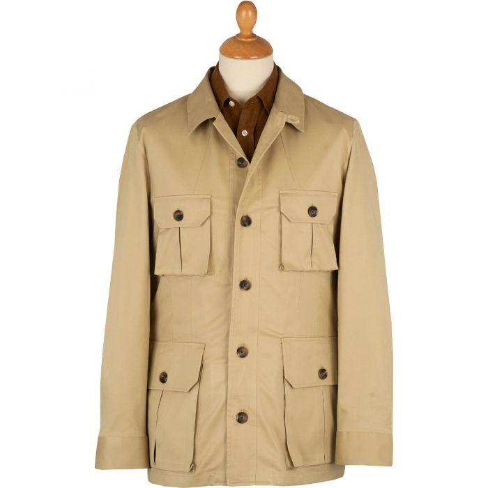 Beige Kalahari Safari Cotton Jacket
