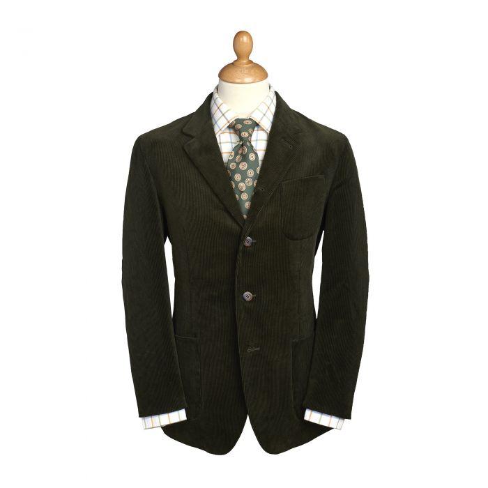 Green Olive Stockbridge Needlecord Jacket