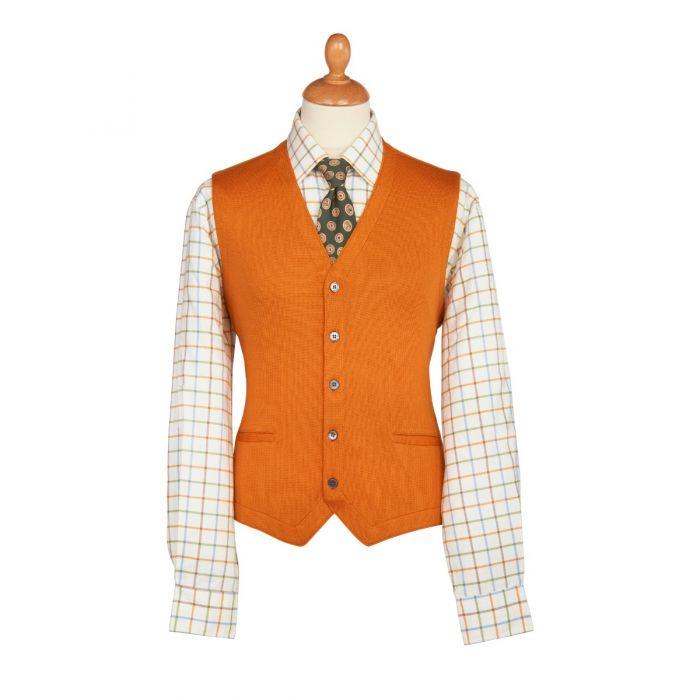 Burnt Orange Merino Waistcoat