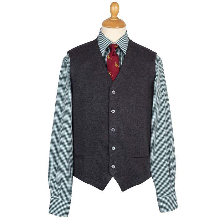 Charcoal Merino Waistcoat