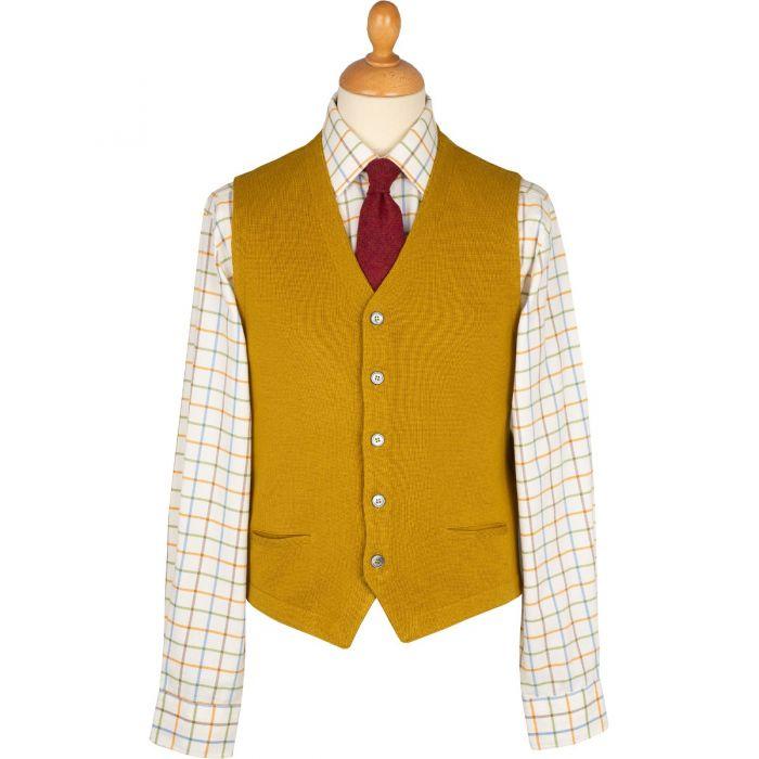 Mustard Merino Waistcoat