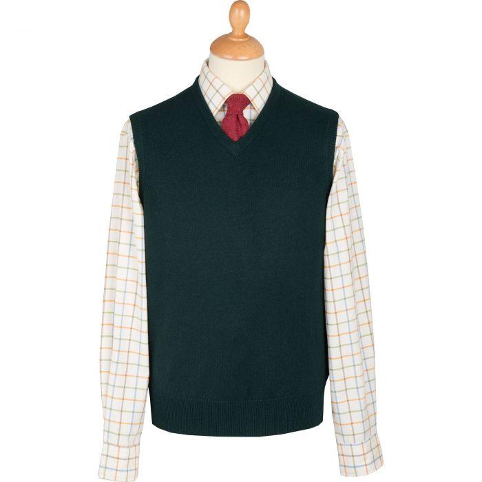 Tartan Green Lambswool Slipover