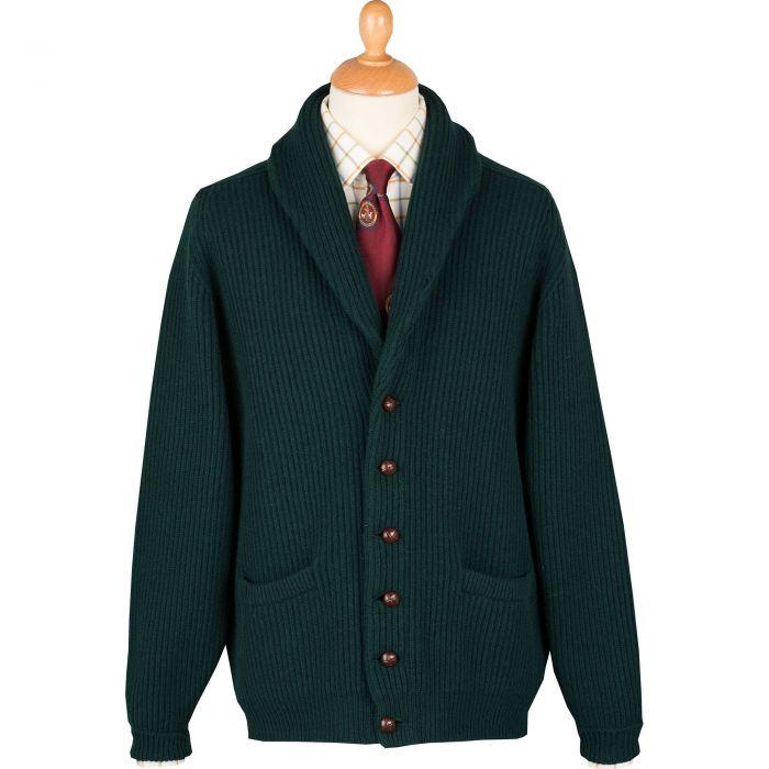 Tartan Green 4 Ply Lambswool Cardigan