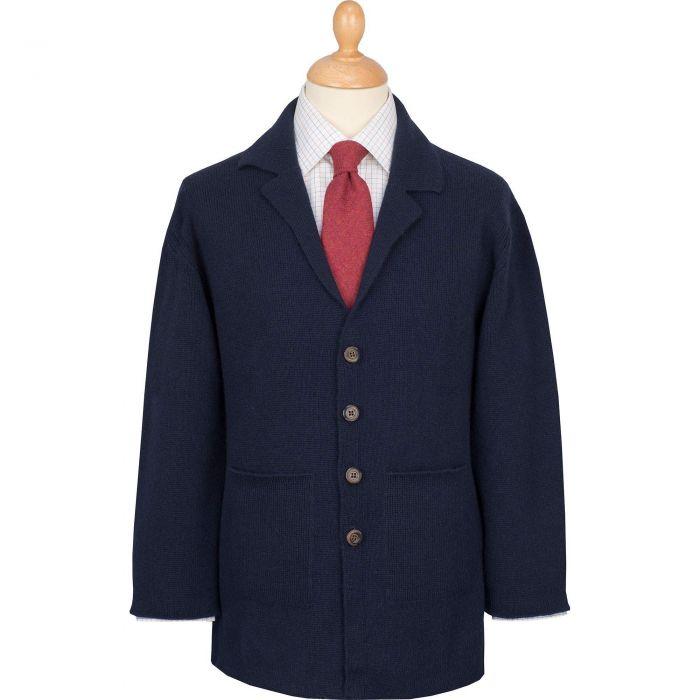 Navy Cashmere Hand Framed Milano Jacket