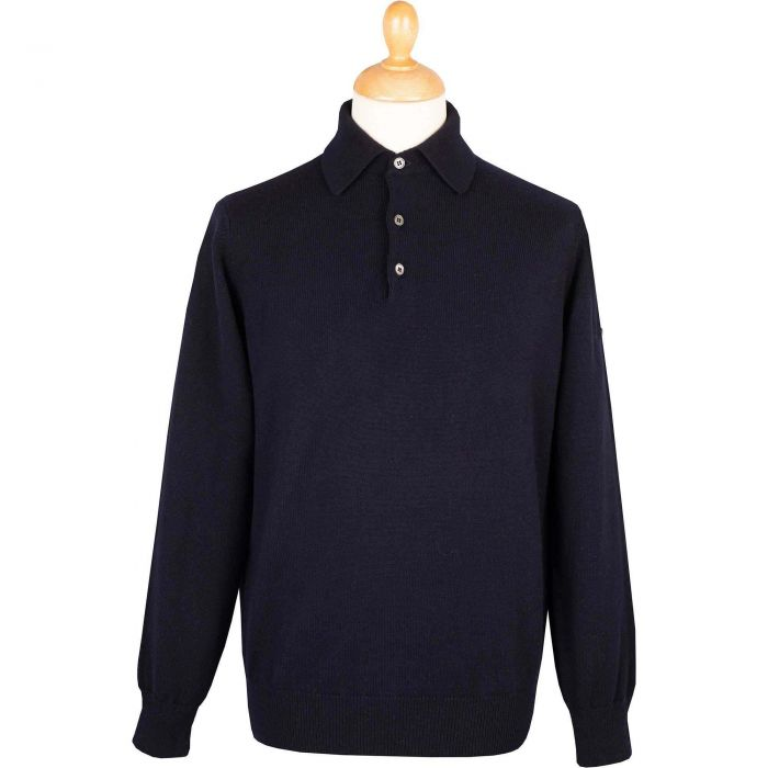 Navy Polo Merino Jumper