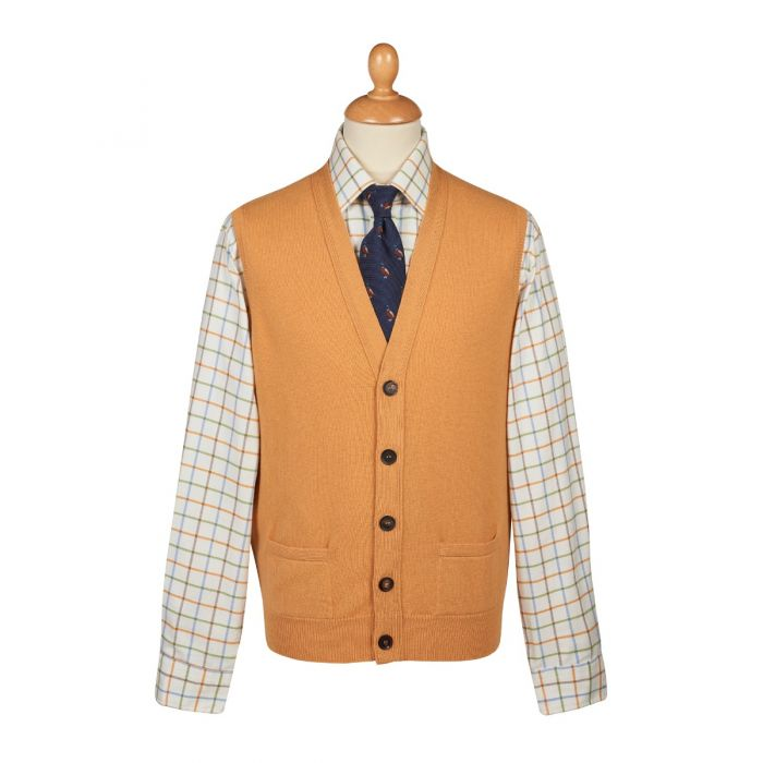 Gold  Lambswool Knitted Waistcoat