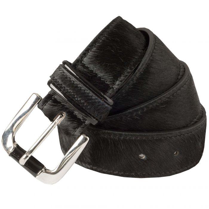 Black Cowhide Belt