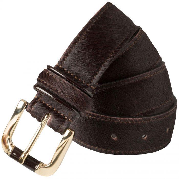 Brown Cowhide Belt