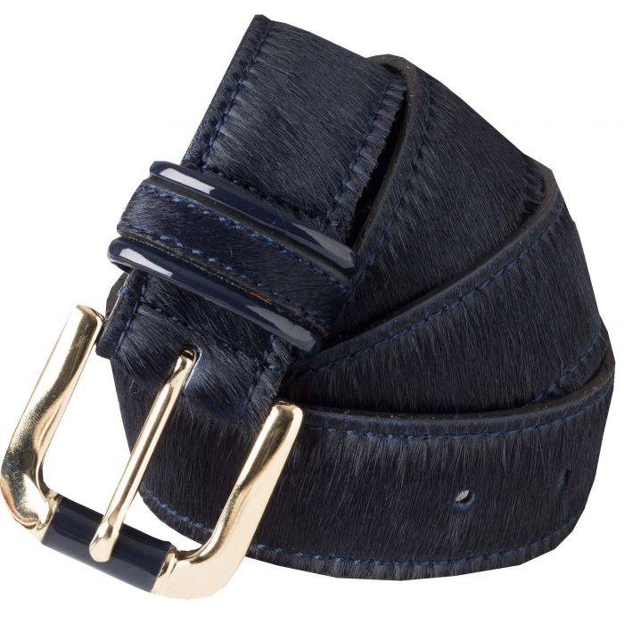 Navy Cowhide Belt