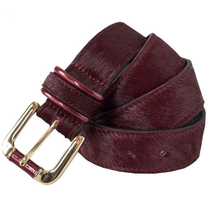 Wine Cowhide Belt