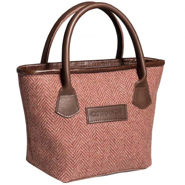 Pink Carlisle Tweed Tote Bag