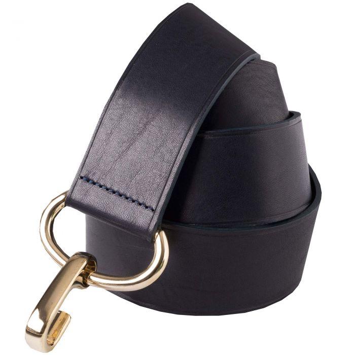 Black Leather Adjustable Belt